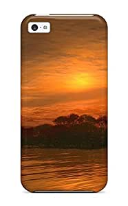 High-end Case Cover Protector For Iphone 5c(golden Night)