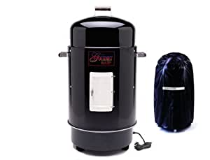 Brinkmann 810-7080-7 Gourmet Electric Smoker and Grill with Vinyl Cover, Black