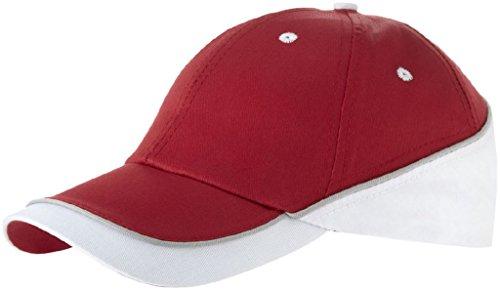 Sólido Blanco Slazenger Cappellino pannelli Draw 6 Rojo qwYBYZS