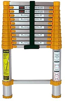 Xtend and Climb 770P Aluminum Telescoping Ladder Type II Home Series, 12.5-Foot ,product_by: pen-and-pencil it#236222203522677