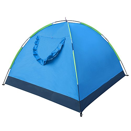 Everking 3-4 Person Portable Outdoor Folding Lightweight Waterproof Single Layer Backpacking Tent for Sports, Camping, Hiking, Travel Beach with Carrying Bag