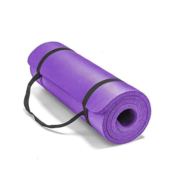 CXZC Tapis de Yoga, Tapis d'exercice antidérapant, Tapis d'entraînement Extra épais pour Le Yoga, Tapis de Fitness Pilates avec Serviette et Sangle de Transport, 183 x 61 x 1 cm accessoires de fitness [tag]