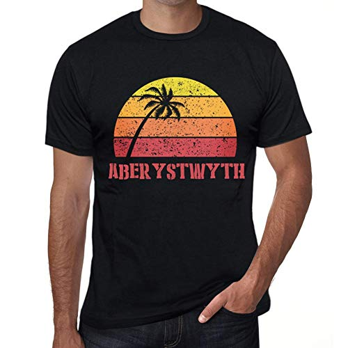 Ultrabasic Men's Graphic T-Shirt Aberystwyth Sunset for sale  Delivered anywhere in Canada
