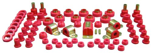 Prothane 1-2008 Red Total Kit with Transmission Mount for CJ5 and CJ7 by Prothane