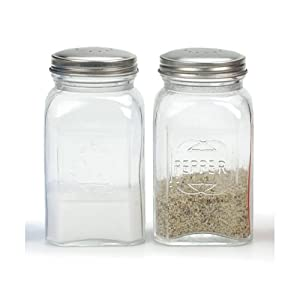 Amazon.com: RSVP Retro Clear Glass Salt and Pepper Shaker