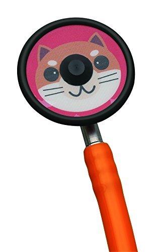 ZellaMed聴診器 コスモリットS3(ダブルタイプ) 小児用 オレンジ 柴犬 B07CGCMT8G オレンジ 柴犬 オレンジ 柴犬