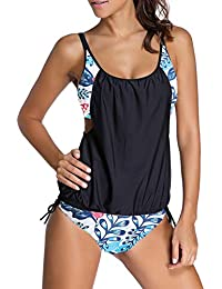 505c12c0764 Womens Stripes Lined Up Double Up Tankini Top Sets Swimwear