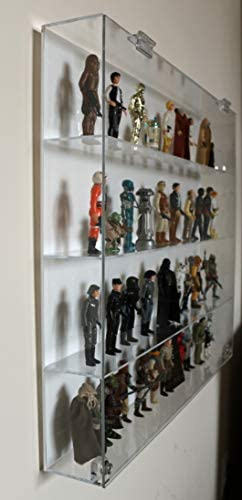 """Premium Display Case for 3-3//4/"""" Star Wars Figures T3MS Collectors Showcase"""