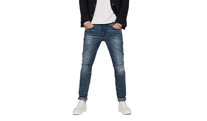 047a12a4ba6 G-STAR RAW Men's D-STAQ 5-Pocket Skinny Jeans, Blue (