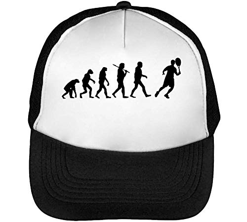 Evolution Tennis Gorras Hombre Snapback Beisbol Negro Blanco
