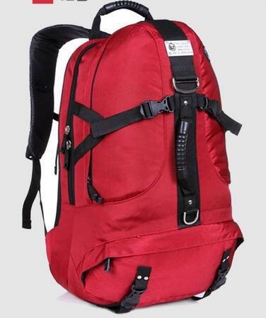 Mountaineering Bag Outdoor Männer und Frauen Schulter Rucksack Wandern Bergsteigen Taschen , Schwarz Paket