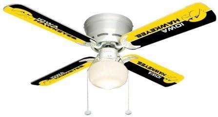 Ceiling Fan Designers 7999-IOW New NCAA IOWA HAWKEYES 42 in. Ceiling Fan