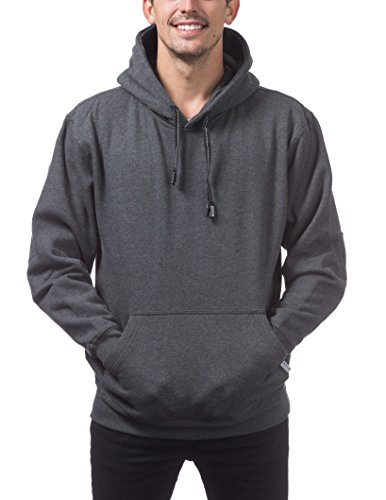 - Pro Club Men's Heavyweight Pullover Hoodie (13oz), X-Large, Charcoal
