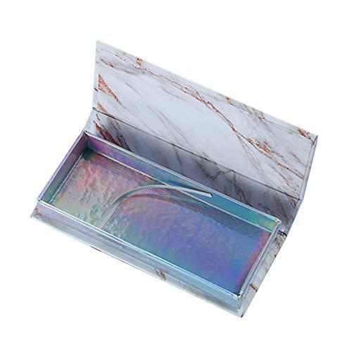 Barlingrock Empty Eyelash Box, Hot Fashion False Eyelash Care Storage Case Holder Container Compartment Tool for Long, Luscious Lashes and Eyebrows-Holds 1 Pairs of Eyelashes
