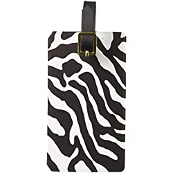 Graphics & More Zebra Print Black White Luggage Tags Suitcase Carry-on Id