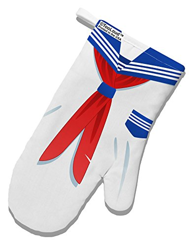 TooLoud School Uniform Costume - White White Printed Fabric Oven Mitt All Over Print (Hot School Girl Costume)