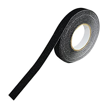 """Houseables Non Skid Tape Roll, 60' x 1"""", 80 Grit, Nonslip, Anti Slip, Safety, Black, High Traction, Strong Grip Abrasive Tread for Stairs, Steps, Ramps, Ladders, Forklifts, Boats, Indoor & Outdoor"""