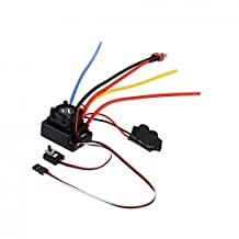 MagiDeal OCDAY Adjustable Sensored or Sensorless Brushless 80A Speed Control ESC for 1/10 RC Car Parts Toys Gift