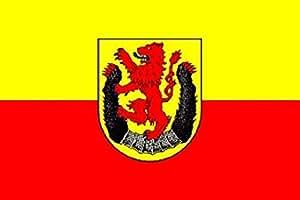 UB FahnenMax–Bandera País circular Diep Madera 90cm x 150cm NUEVO.