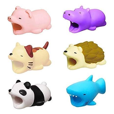 Amazon.com: Cute Animal Bite Cable Protector 6 Pack Cargador ...