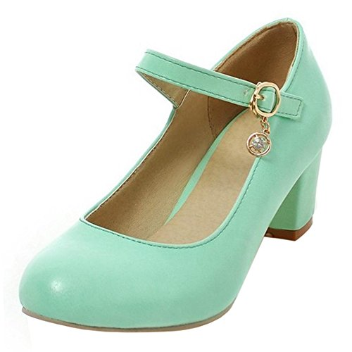TAOFFEN Comfort Low Shoes Women Pumps Heel Green rBxHrqwC
