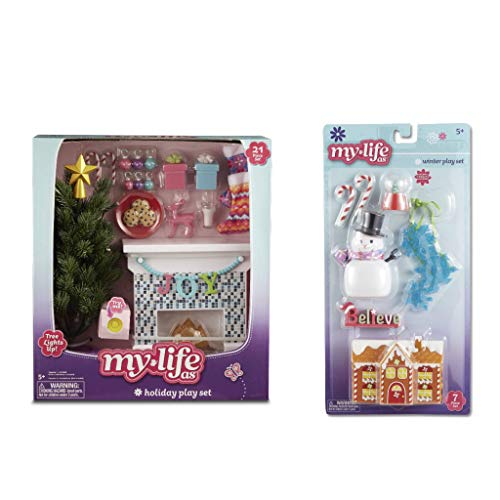 My Life As Holiday Play Set for 18 Inch Dolls, 28 Pieces (Holiday Furniture)