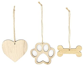 Rescue Dog Christmas Ornament Adopted Dog Lover Gifts Wooden Christmas Ornaments 3-Piece Bundle
