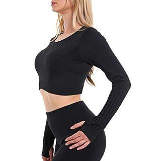 High Waisted Seamless Leggings for Women Tummy Control Workout Gym Butt Lifting Tights Mesh Yoga Pants (Blacktop, Medium)