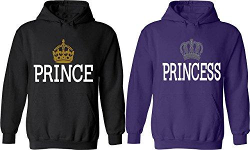 Prince & Princess - Matching Couple Hoodies - His and Her Love (Disney Princess Couples)