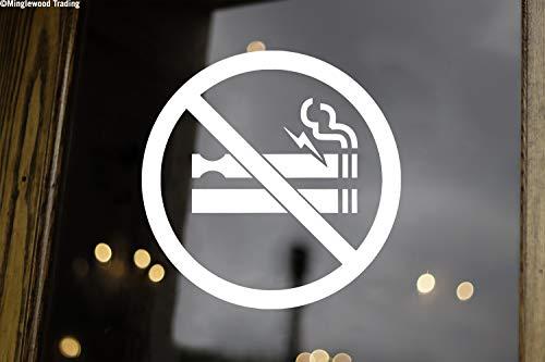 White - Set of Two (2) No Smoking or Vaping Sign 3