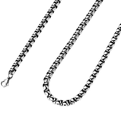2mm 16 to 38In Stainless Steel Rolo Chain Necklace Crude Chain Necklace for Men Women Jewelry