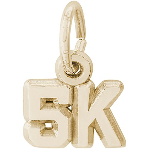 Rembrandt Charms 14K Yellow Gold 5K Race Charm (0.25 x 0.35 inches) by Rembrandt Charms