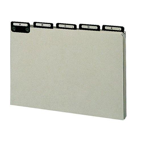 Smead 52576 Pressbrd File Guides, A-Z, 1/5 Metal Tab, Legal, GY/GN