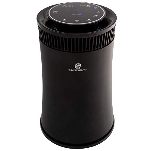 SilverOnyx Air Purifier: Air Quality Monitor, UVC Sanitizer, Ionizer