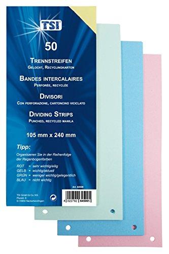 TSI Trennstreifen 50er Packung stabiler Karton, 190 g/m²