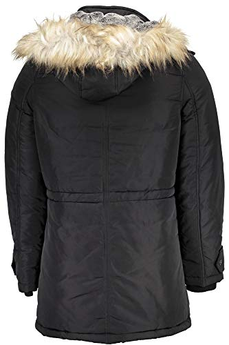 Homme Parka Contemporary Guess Manteau Nero 8AU5nf