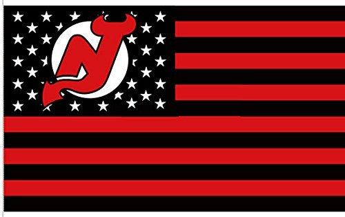 New Jerseys Devils 3x5ft Stars and Stripes Flag Devils-Nation