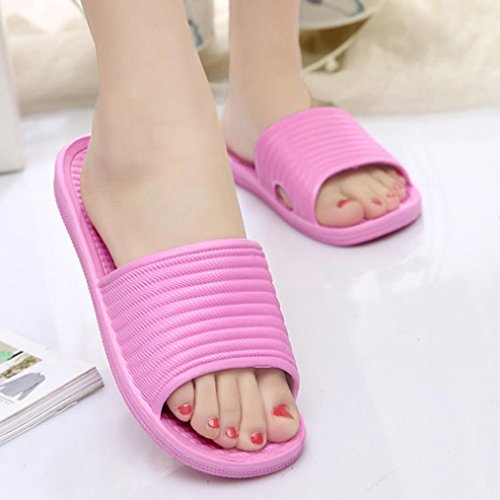 Sandals Femmes Bath amp; Pantoufles Striped Overmal Rose Outdoor Indoor Summer Flat 56Y7aSxq