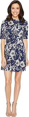 Christin Michaels Women's Anya 3/4 Sleeve Dress Navy - Dress Anya