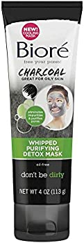 Biore Charcoal Whipped Purifying Detox Mask, 4 Ounce