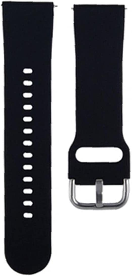 Watch Strap Replacement Silicone Watch Bands Compatible with Zl01 Sports Smart Watches Spare Strap Accessories Black