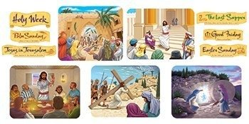 Trend Enterprises Holy Week Bulletin Board Sets (T-8164)