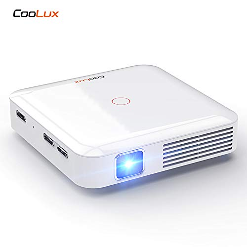 Amazon.com: Coolux Q7 HD Mini Projector LED Lamp with Built in Rechargeable Battery HDMI Input Big Screen Support TV boxs (White): Electronics