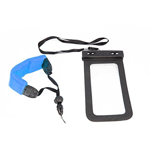 Livestream Gear® | Waterproof Case Bag with Floating Wrist Strap, Operable with Any Phone. Universal Waterproof Case Pouch & Lanyard for Apple iPhone, Samsung Galaxy, HTC, Any Phone. - Floating Wrist Lanyards