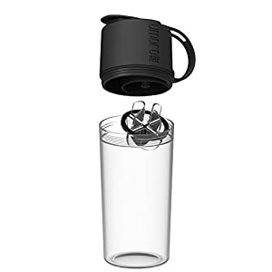 Umoro One Multifunction Protein Shaker Bottle and Water Bottle in one! Top-End Storage for Protein or any supplement Perfect for on the go Workouts! - Black