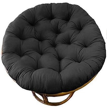 Cotton Craft Papasan Chair Cushion Black Pure 100 Cotton Duck Fabric Fits Standard 45in Rnd Chair