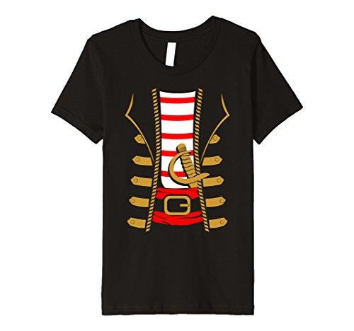 Kids Pirate Costume Shirt - Funny Sword Buccaneer Sailer Gift Tee 12 Black