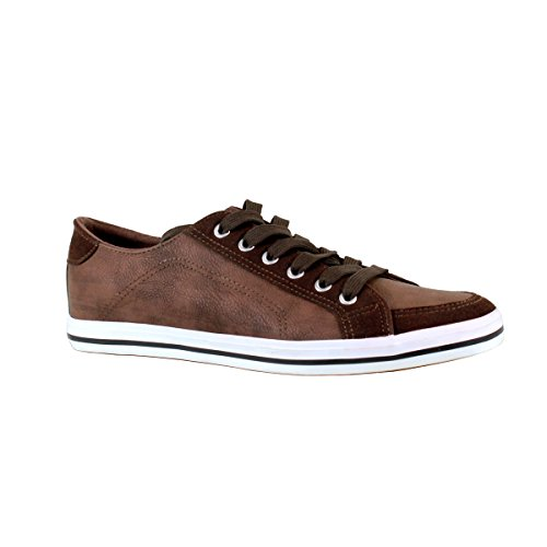 Arider AR6011 Mens Low Top Casual Sporty Sneakers - Brown, Size 8