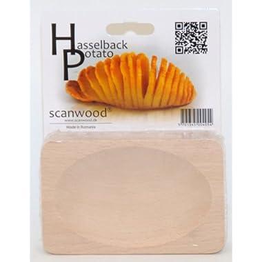 Scanwood Beechwood Swedish Hasselback Potato Cutting Board
