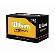 Wilson Maximum Golf Balls - 1 Dozen (Straighter, Longer)